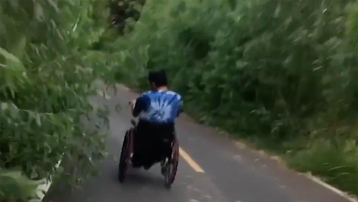 หนุ่มพิการแชร์คลิปเป็นอุทาหรณ์ เตือนอย่าทำตาม
