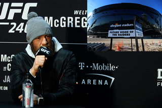 Conor McGregor says he'd be honored to be the first to fight at Allegiant Stadium
