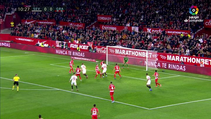 Gol De Jong (1-0) en el Sevilla 2-0 Granada