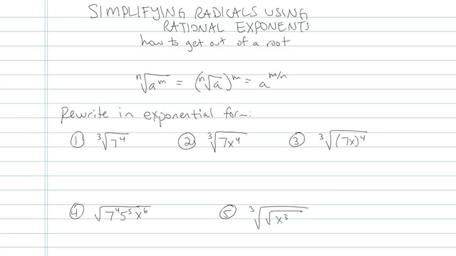 Simplifying Radicals using Rational Exponents - Problem 3