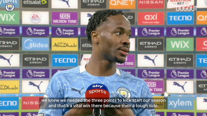 Sterling: 'Arsenal win kick-starts our season'