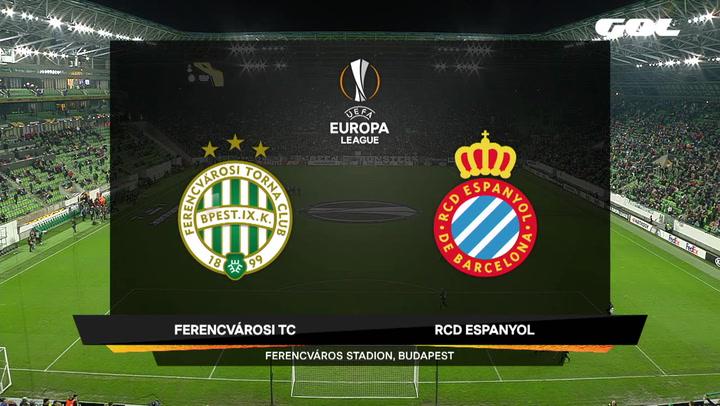 Europa League Resumen y Goles del Ferencvaros-Espanyol