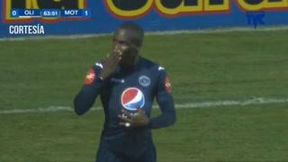 Rubilio Castillo abre el marcador para Motagua 0-1 ante Olimpia en el Nacional