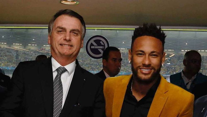 Jair Bolsonaro manda todo su apoyo a Neymar