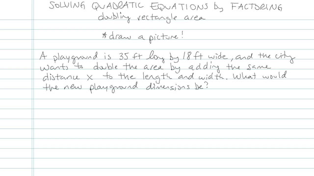 Solving Quadratic Equations by Factoring - Problem 18