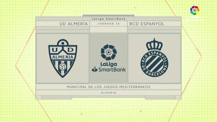 LaLiga SmartBank (J35): Resumen y goles del Almería 1-1 Espanyol