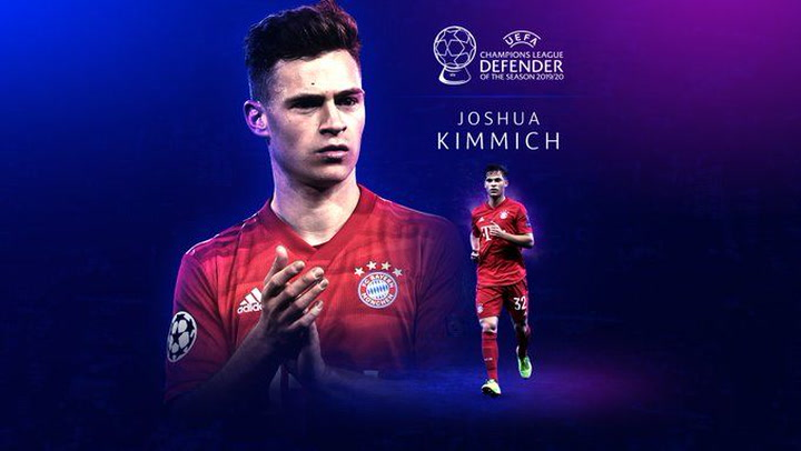 Joshua Kimmich, mejor defensa de la temporada 2019-2020 en la Champions League