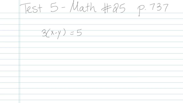 Test 5 - Math - Question 25