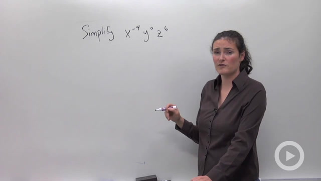 Zero and Negative Exponents - Problem 1