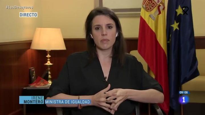 Irene Montero alborota las redes al lucir este complemento en una entrevista de TVE