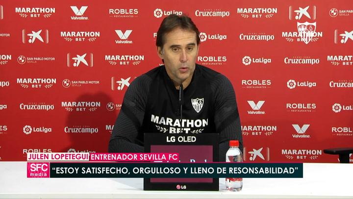 Lopetegui habla del Atlético de cara al partido de mañana en Madrid