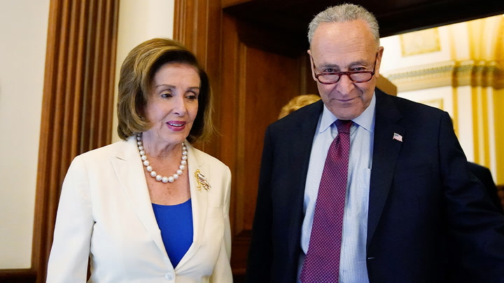 Watch live as Pelosi and Schumer hold press conference on climate crisis