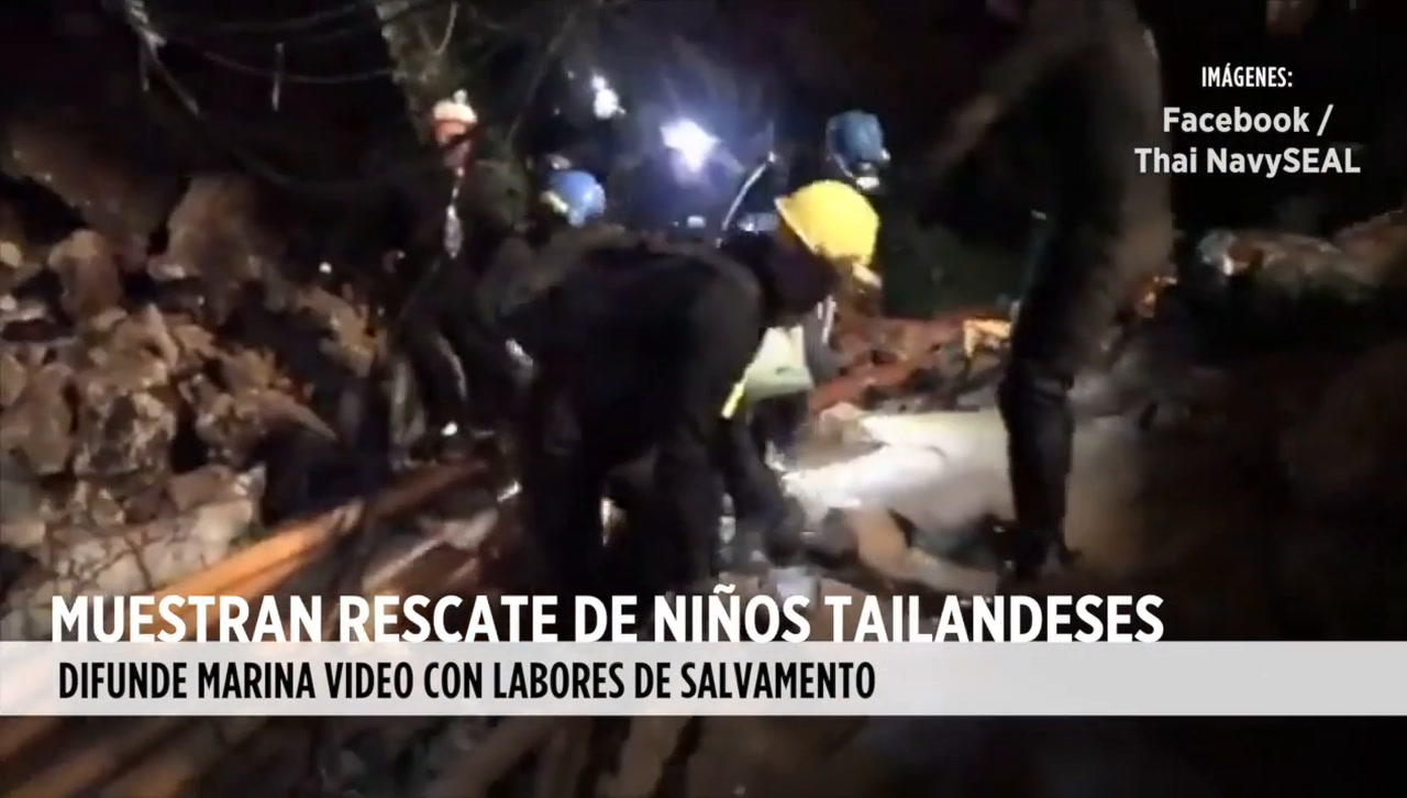 Video: Rescate de niños tailandeses
