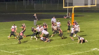The Tiger cousin duo - QB #2 Irvin Tulenchik and RB #1 Connor Tulenchik - combine for a late 4th quarter touchdown to seal their Pine River Backus win Friday night over previously undefeated Ada-Borup Cougars. It was a well-played game with multiple lead changes in the second half.
