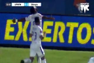 Jorge Benguché anota el 3 - 0 de Olimpia ante UPN