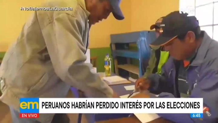 Peruanos habrían perdido el interés por las elecciones presidenciales, según especialistas