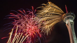 """""""Red White and Boom"""" July 4 Fireworks at the Stratosphere"""
