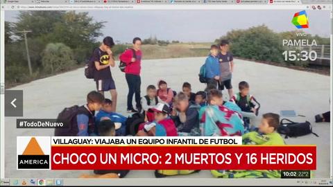 Volcó un colectivo que trasladaba niños a un campeonato de fútbol