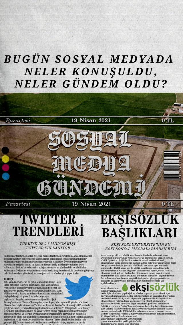 Sosyal medyayı sallayanlar - 19 Nisan