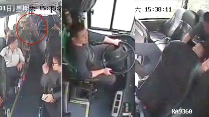 Her redder bussjåfør passasjerene fra mann med kniv