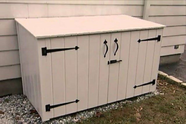 How To Build An Outdoor Garbage Enclosure Ron Hazelton