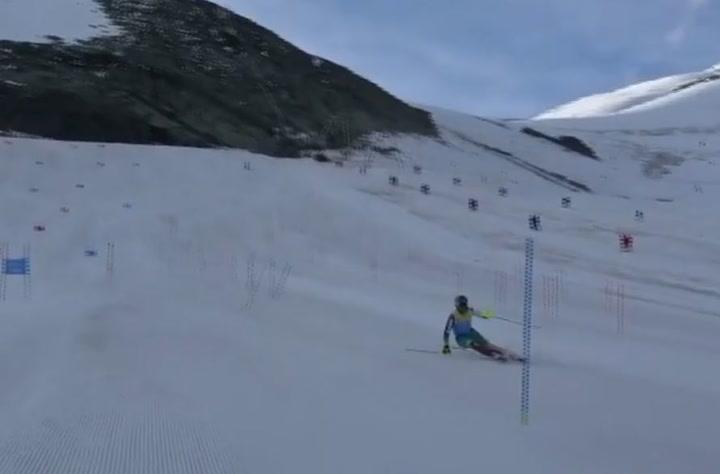 Quim Salarich, entrenando en la estación suiza de Saas Fee