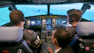 Golden Knights players earn temporary wings as Allegiant pilots – Video