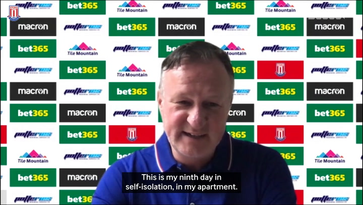 Michael O'Neill completes press conference from self-isolation