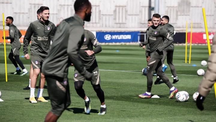 El Atlético de Madrid prepara el próximo partido ante el Alavés