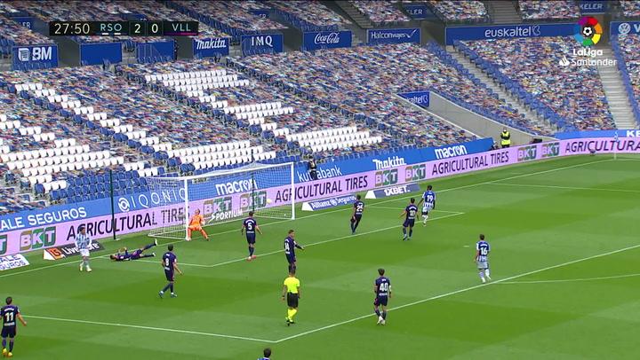 Gol de Silva (3-0) en el Real Sociedad 4-1 Valladolid