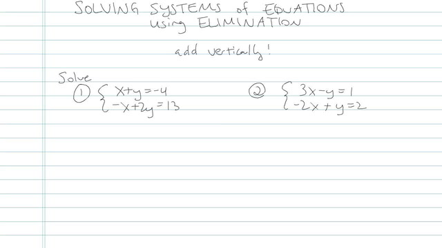 Solving Systems of Equations using Elimination - Problem 4