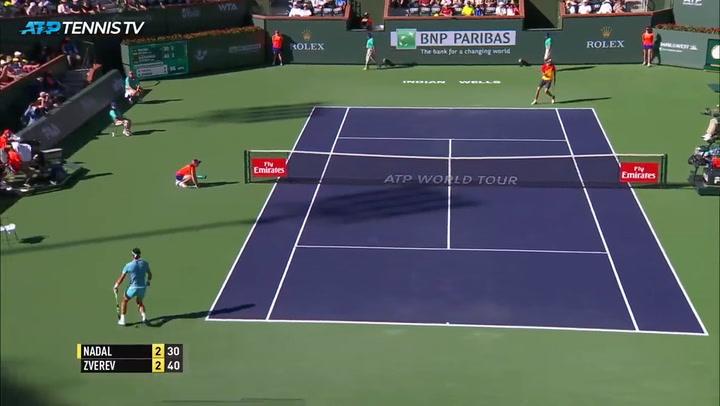 Nadal - Zverev  del Masters de  Indian Wells de 2016