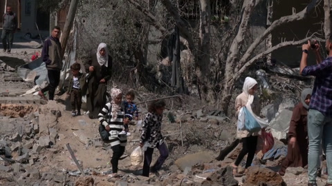 Muerte, destrucción y desplazados en la Franja de Gaza e Israel