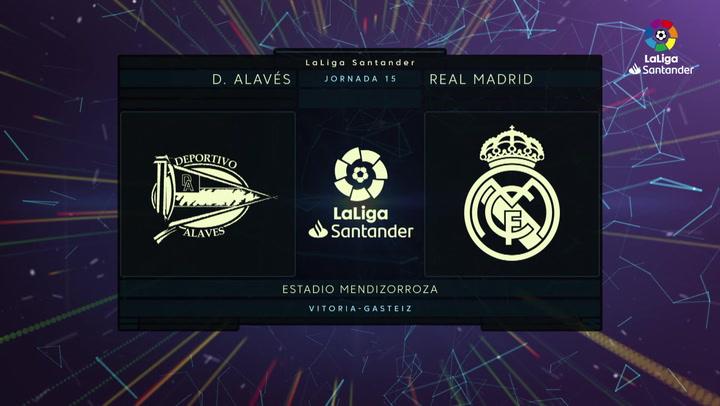 LaLiga (J15): Resumen y goles del Alavés 1-2 Real Madrid
