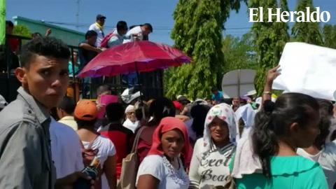 Protestan en Choluteca por suspensión de párroco de iglesia