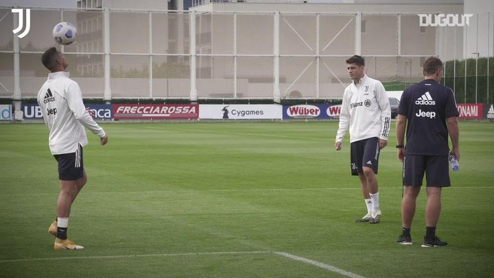 Alvaro Morata Juventus Formasıyla Roma Maçı Hazırlıklarına Katıldı