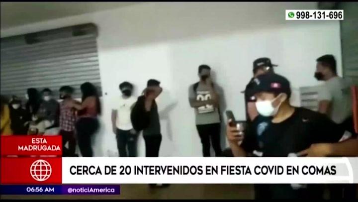 Comas: Una veintena de personas son intervenidas en 'fiesta covid' durante el toque de queda
