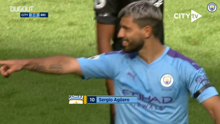 Sergio Agüero's sensational strike against Brighton