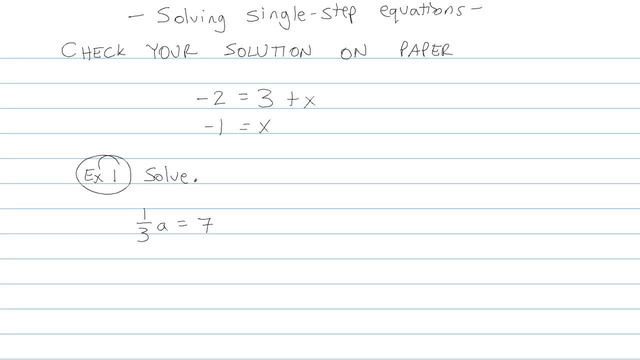 Solving Single-step Equations - Problem 6