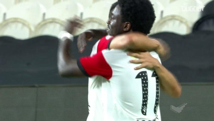 Ernest Asante slots home against Al Ain