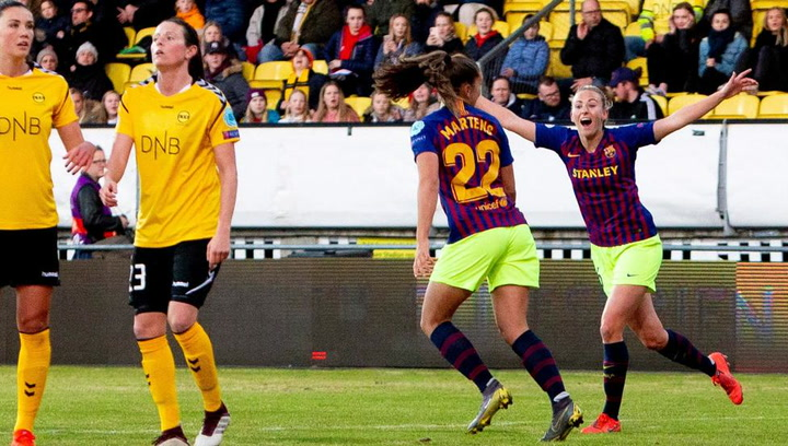 El resumen del  LSK - FCB (0-1) de Women's Champions League