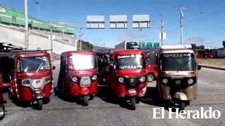 Conductores de mototaxis realizan paro en colonia Arturo Quezada