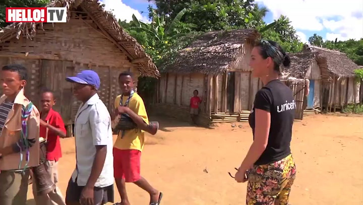 Katy Perry bonds with the people of Madagascar