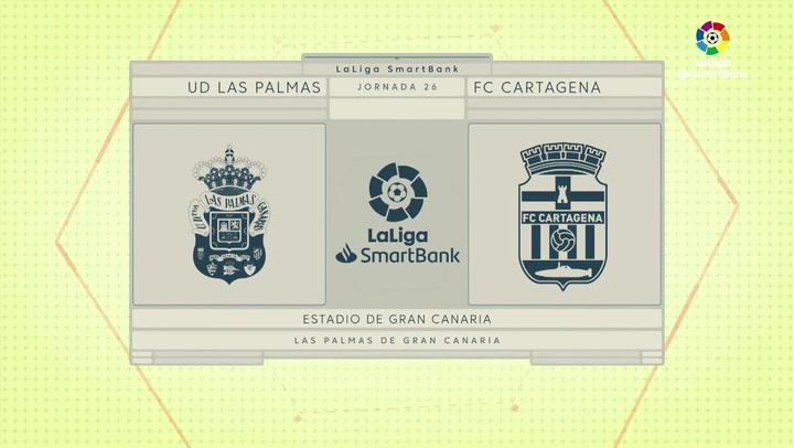 LaLiga SmartBank (J26): Resumen y goles de Las Palmas 2-0 Cartagena