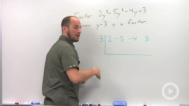 Using Synthetic Division to Factor - Problem 2