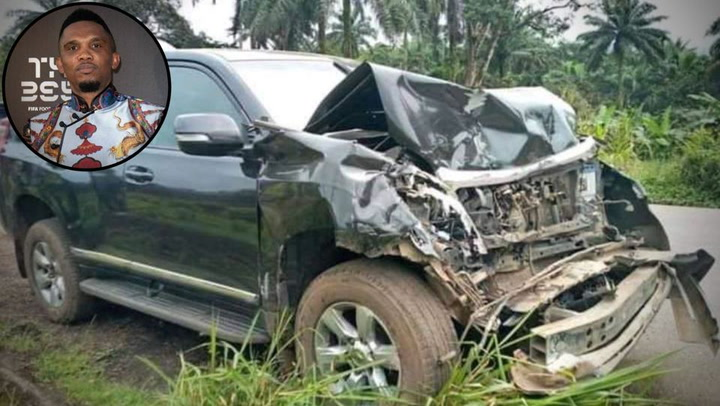 Eto'o sufre un accidente con su coche en Camerún