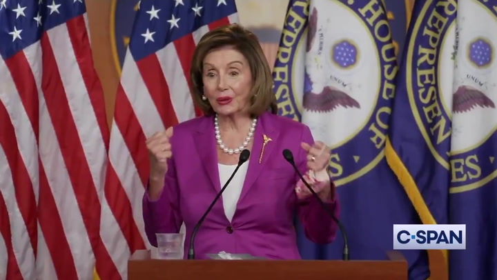 Pelosi appears to back Simone Biles' walk away from Olympic final