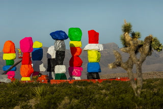 Seven Magic Mountains restoration complete