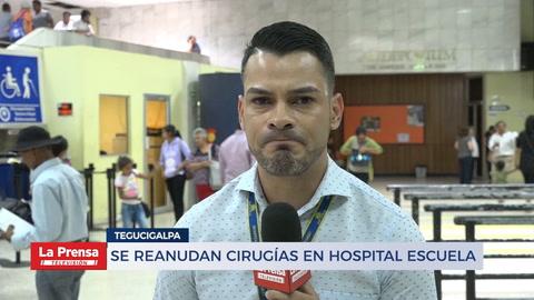Se reanudan cirugías en Hospital Escuela Universitario