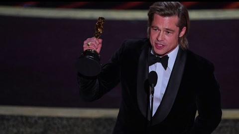 Brad Pitt y Laura Dern ganan Oscars a mejor actor y actriz de reparto